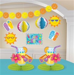 Fun In The Sun Decorating Kit | Luau Party Supplies