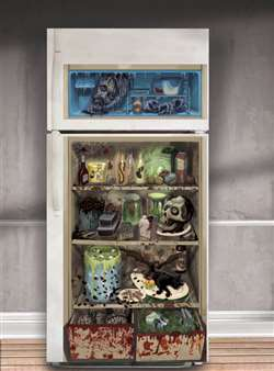 Halloween Refrigerator Door Cover | Haunted House Decorations