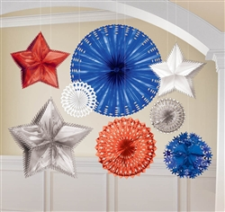 Patriotic Starburst Decorating Kit | Party Supplies
