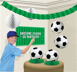 Soccer Fan Customizable Decorating Kit | Party Supplies