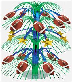 Football Foil Cascade Centerpiece | Football Party Decorations