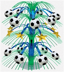 Soccer Fan Foil Cascade Centerpiece | Party Supplies