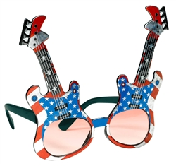 Patriotic Guitar Glasses | Party Supplies