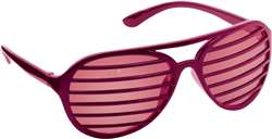 Burgundy Slot Glasses