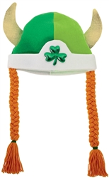 Viking Hat w/Braids | St. Patrick's Day Viking Hat