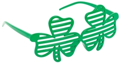 Shamrock Plastic Slot Glasses | Party Glasses
