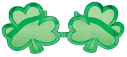 St. Patrick's Day Giant Shamrock Glasses | Shamrock Glasses