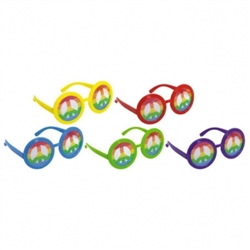 60's Glasses w/Printed Lenses | Party Supplies