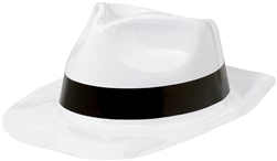 50's Fedora White w/Black Band | Party Supplies