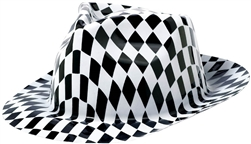 50's Fedora Black & White | Party Supplies