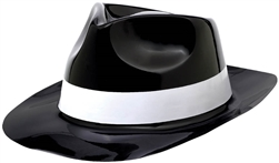 Classic 50's Fedora Black w/White Band | Party Supplies