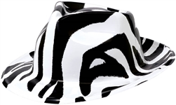 80's Zebra Fedora | Party Supplies