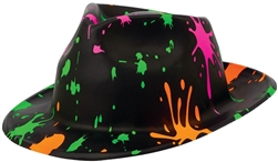 80's Fedora Paint Splatter | Party Supplies