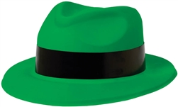 80's Green Fedora | Party Supplies