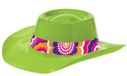 60's Lime Cowboy Hat | Party Supplies