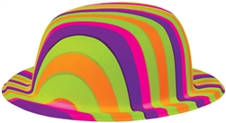 60's Rainbow Bowler Hat | Party Supplies