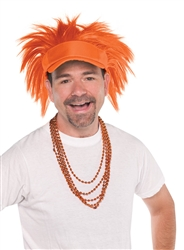Orange Spiked Visor Hat | Party Supplies
