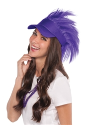 Purple Spiked Visor Hat | Party Supplies