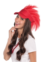 Red Spiked Visor Hat | Party Supplies
