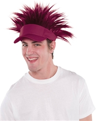 Burgundy Spiked Visor Hat | Party Supplies