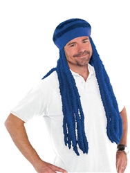 Blue Dread Wig Cap | Party Supplies