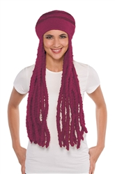 Burgundy Dread Wig Cap | Party Supplies