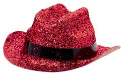 Red Mini Glitter Cowboy Hat