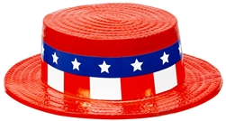 Patriotic Skimmer Hat | Party Supplies