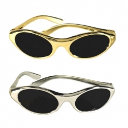 Silver & Gold Oval Glasses | Party Supplies