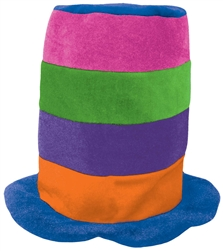 Rainbow Tall Top Hat | Party Supplies