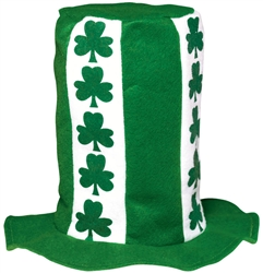 St. Patrick's Day Stovepipe Top Hat | Irish Party Favors