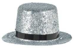 Mini Silver Top Hat | Party Supplies