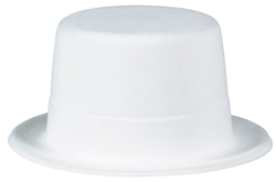 Hollywood White Top Hat | Party Supplies