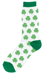St. Patrick's Day Crew Socks - Shamrocks | St. Patrick's Day Party Apparel