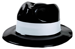 Hollywood Gangster Hat w/White Band | Party Supplies