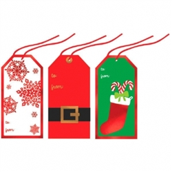 Tape-On Jumbo Christmas Tag | Party Supplies