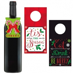 Holiday Wine Tags | Party Supplies