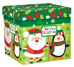 Merry Christmas Characters Medium Pop-Up Gift Box | Party Supplies