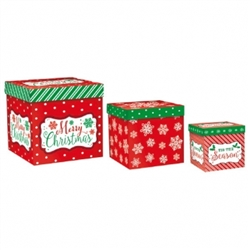 Modern Christmas Assortment Pop-Up Gift Boxes | Party Supplies