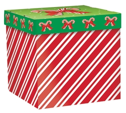 Candy Cane Stripe Small Pop-Up Gift Box | Party Supplies