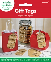 Kraft Container Tags | Party Supplies