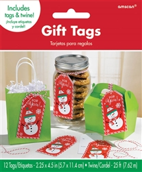 Snowman Container Tags | Party Supplies