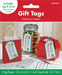 Holly Container Tags | Party Supplies