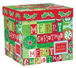 Holiday Messages Medium Pop-Up Gift Box | Party Supplies
