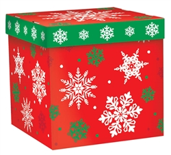 Christmas Snowflake Medium Pop-Up Gift Box | Party Supplies