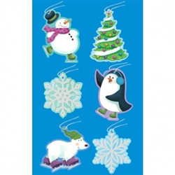 Frosty Tape-On Paper Tags | Party Supplies