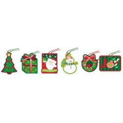 Holiday Friends Tape-On Paper Tags | Party Supplies