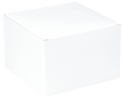 "White Gift Box - 3"" x 3"" x 2"" 