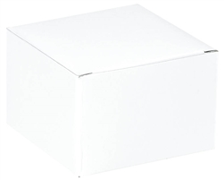 "White Gift Box - 6"" x 6"" x 4"" 