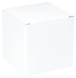 "White Gift Box - 4"" x 4"" x 4"" 